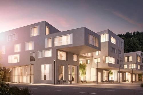 Neubau in der Salzburger Altstadt: Exklusive Terrassenwohnung mit Parkblick