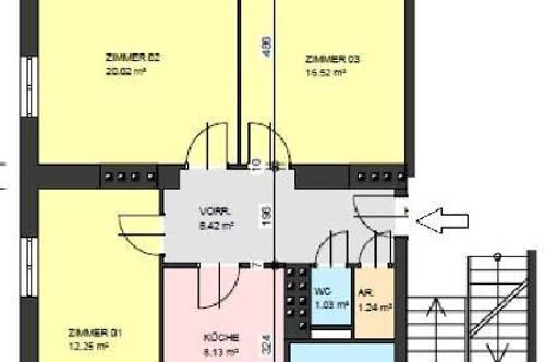 """""""Provisionsfrei - renoviert, hell und schön - Wohnung im Hochparterre - 3 große Zimmer"""""""