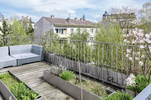 Exklusive Sieveringer Grünruhelage! Luxuriöses Terrassen-Penthouse ohne Schrägen mit fünf Terrassen