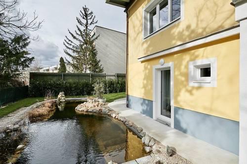 Erstbezug beim Türkenschanzpark! Schicke 3-Zimmer-Gartenwohnung mit Terrasse, Schwimmbiotop und PKW-Stellplatz