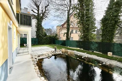 Erstbezug beim Türkenschanzpark! Sonnige 3-Zimmer-Gartenwohnung mit Terrasse, Schwimmbiotop und optionalem PKW-Stellplatz