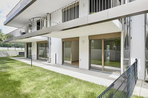 """ANLAGEWOHNUNG """"das JOSEF"""" nahe Stadtplatz! Helle 2-Zimmer-Garten-Wohnung mit Terrasse in absoluter Grünruhelage"""