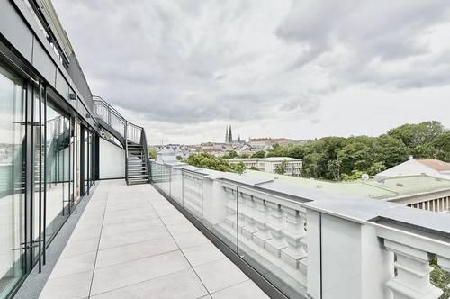 Bestlage Gartenpalais Liechtenstein! Exquisite Penthouse-Erstbezug-Terrassen-Wohnung in Grünruhelage