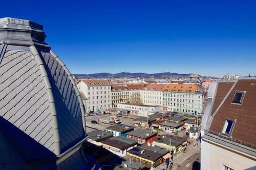 Erstbezug 3-Zimmer-Dachgeschoss-Wohnung mit 125 m2 Dachterrasse - Panoramaterrasse - Direkt am Karmelitermarkt!