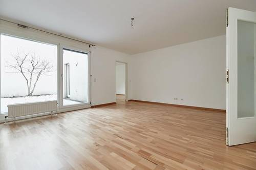 Ruhelage bei Auhofstraße! Helle 3-Zimmer-Garten-Wohnung mit Terrasse und Tiefgaragen-Platz