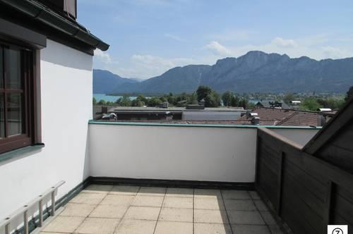 Mondsee: 2-Zi.-Maisonette-Wohnung mit herrlichem Seeblick - inkl. TG-Stellplatz