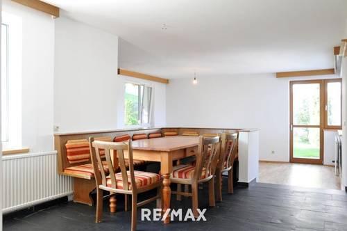 Familienwohnung mit 2 Terrassen und Garten zur Mitbenutzung