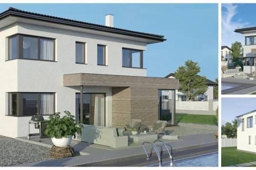 Randlage Gmünd - Schönes ELK-Design-Haus und Hang-Grundstück in Ausblickslage (Wohnfläche - 130m² & 148m² & 174m² möglich)