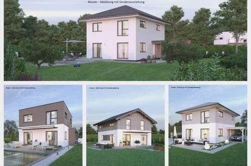 Wolfsgraben - Schönes Elkhaus und Hanggrundstück mit Panoramablick (Wohnfläche - 117m² - 129m² & 143m² möglich)