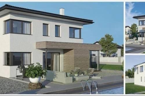 Randlage Fraham - ELK-Design-Haus und Grundstück in leichter Hanglage (Wohnfläche - 117m² - 129m² & 143m² möglich)