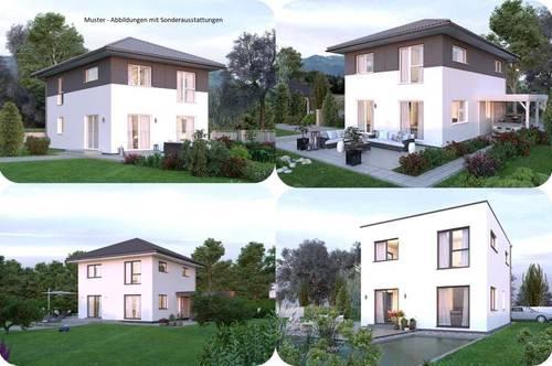 Randlage St.Veit an der Glan - Schönes Elkhaus und Hanggrundstück mit Ausblick (Wohnfläche - 117m² - 129m² & 143m² möglich)