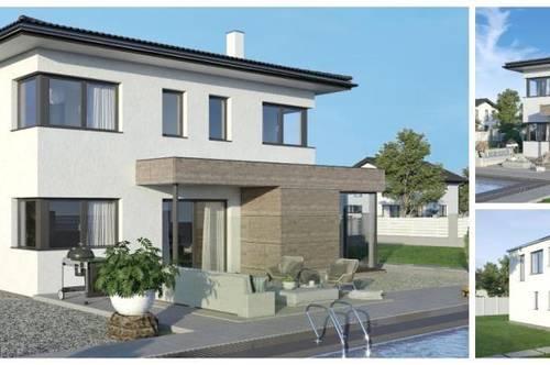 Großweikersdorf/Nahe Tulln/Wien- ELK-Design-Haus und Grundstück in leichter Hanglage mit Fernblick (Wohnfläche - 130m² & 148m² & 174m² möglich)