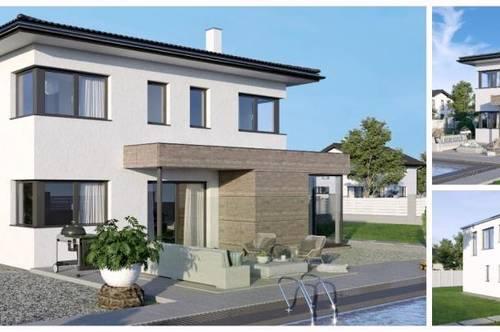 St. Kanzian - ELK-Design-Haus und Grundstück mit Aussicht/Seenähe (Wohnfläche - 130m² & 148m² & 174m² möglich)