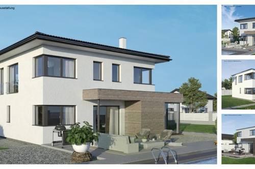 Pribelsdorf - Schönes ELK-Design-Haus und Grundstück mit Ausblick (Wohnfläche - 130m² & 148m² & 174m² möglich)