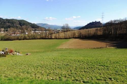 Baugrund mit Blick auf den Griffner Schloßberg