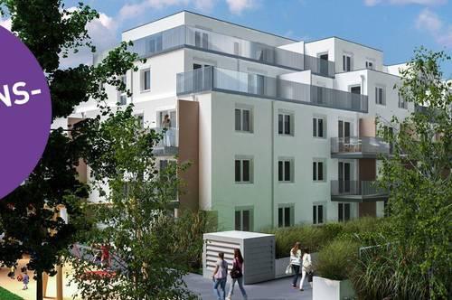 PROVISIONSFREI - Neubau 2-Zimmer-Gartenwohnung Erstbezug inkl Komplettküche, Terrassen Außenfläche und Kellerabteil /ALF46-14