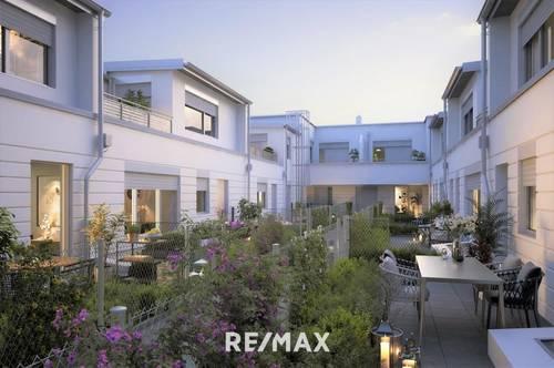 Village Living in 1130: Top 6 - Exklusive Wohnung mit großer Terrasse, herrlichem Eigengarten und Garagenstellplatz in bester Hietzinger Lage