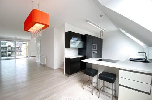 Stylische 3-Zimmer-Terrassenwohnung mit Garagenplatz und Klimaanlage Nähe U4 Ober St. Veit