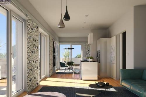 Schöner Wohnen in Graz-Wetzelsdorf | sehr gut aufgeteilte 2 Zimmer Wohnung mit grandiosem Gartenanteil | ab Juni 2021