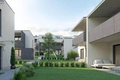 Herrlicher Ausblick von der Terrasse der 3 Zi-Whg im exklusiven Neubauprojekt Nähe Uni-Klinikum - 8010 GRAZ