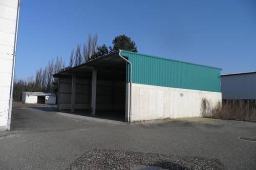 Bestehende Gewerbeliegenschaft mit Lagerhallen und Büros, tw. Industriewidmung