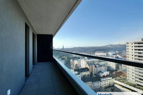 Wohnen im Bruckner Tower   2 Zimmerwohnung mit Balkon!