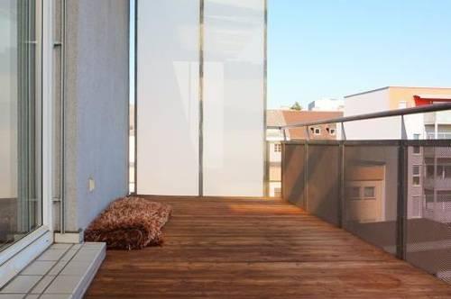 Helle   Großzügige 2 Zimmerwohnung mit 12 m2 Balkon! Inkl. TG!
