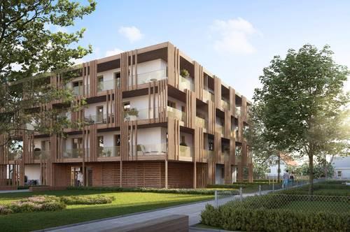 Nachhaltiger, moderner Neubau - helle 2 Zimmer-Wohnung mit Balkon im grünen POST QUADRAT