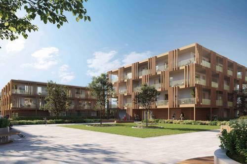 Individuelle Entfaltung im Grünen – moderne, hochwertige 2 Zimmer-Wohnung im POST QUADRAT