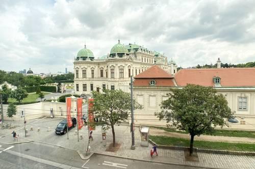 Fantastischer Ausblick über Schloss Belvedere! Unbefristet! Umbau auf 2 Zimmer möglich!