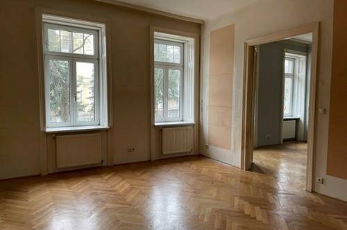 2-Zimmer-Altbau + Fischgrätparkett + Flügeltüren - unbefristet