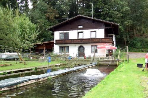 Fischzuchtanlage mit Wohnhaus