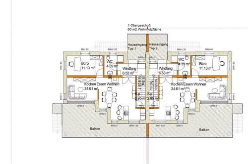 Moderne Doppelhäuser in Mitterkirchen