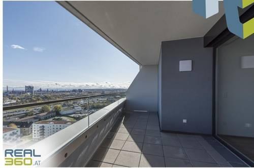 NEUBAU - LENAUTERRASSEN   3-Zimmer-Wohnung mit riesiger Loggia zu vermieten! (GRATIS UMZUGSMONAT)