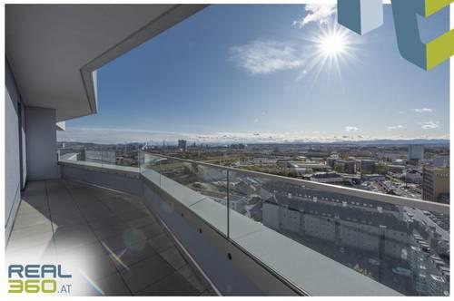 NEUBAU - LENAUTERRASSEN   Südwestlich ausgerichteter Wohntraum mit 3 Zimmern und Balkon zu vermieten! (GRATIS UMZUGSMONAT)