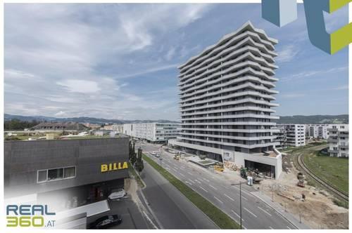 NEUBAU - LENAUTERRASSEN   2-Zimmer-Wohnung mit Balkon und Badewanne zu vermieten! (GRATIS UMZUGSMONAT)