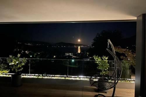 Moderne Villa im mediterranen Stil in ruhiger Lage mit wunderschönem Blick auf den Wörthersee.