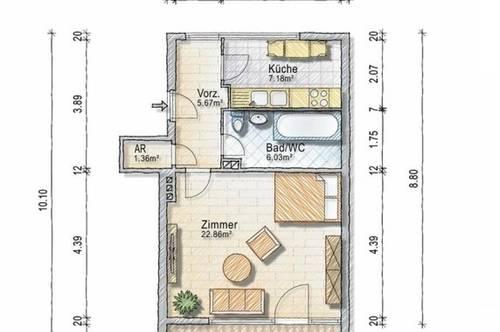 """1,5 - Zimmer mit Südbalkon """"Heizung inklusive"""" - provisionsfrei - ab 1. Oktober 2020"""