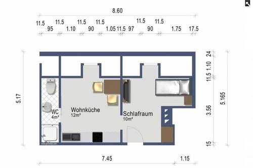 Provisionsfreie kleine Singlewohnung - ruhig im Stadtzentrum - 440 EUR - Heizung inklusive