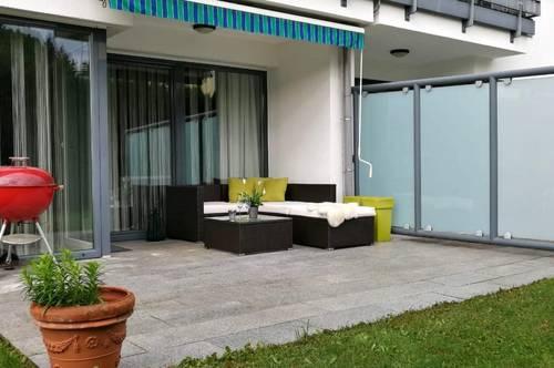 Moderne 3-Zimmer-Erdgeschoss-Wohnung ca. 91m², Loggia und Terrasse mit direktem Gartenzugang