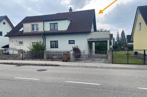 Doppelhaushälfte mit Keller und massives, geräumiges Gartenhaus in der Wohlfühlgemeinde Marchtrenk zu verkaufen