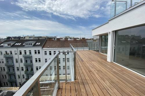 Tolle Dach-Maisonette mit Sonnenterrassen - Nähe U1 Vorgartenstraße