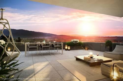 Traumhafte neue 2-Zimmer-Wohnung mit atemberaubenden Blick auf das Rheintal bis zum Bodensee