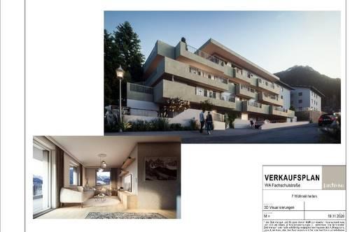 NEUBAUPROJEKT im Herzen von Fulpmes im Stubaital:3 Zimmer Terrassenwohnung mit Keller & TGAAP!