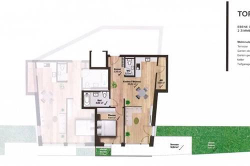 ERSTBEZUG! Wunderschöne 2-Zimmer-Wohnung in Igls (Top 2)