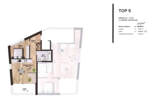 ERSTBEZUG! Wunderschöne 2-Zimmer-Wohnung in Igls (Top5)