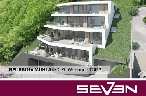 NEUBAU in MÜHLAU: Exklusive 2-ZI.-Terrassenwohnung TOP 2