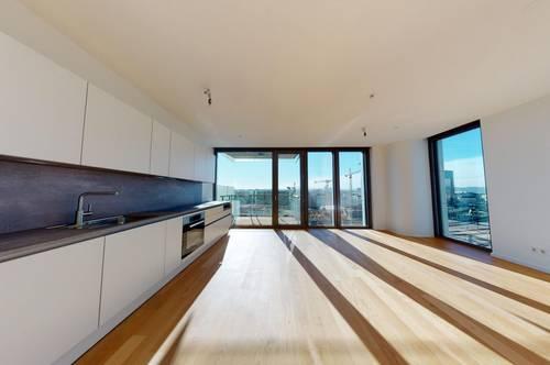 ParkApartments - Erstbezug 2 Zimmer Balkon Wohnung im 11.OG mit neuer Küche (Preis inkl. Heizung & Kühlung)