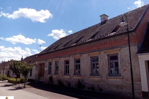 Landhaus im Rohbauzustand mit uneinsichtigem Innenhof, in entkerntem Zustand und teilsaniert! Anschließende Stallungen und Stadel mit Dachboden und großem Garten in Oberstinkenbrunn im Weinviertel!