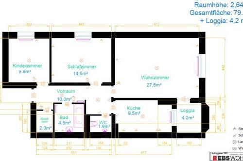 Generalsanierte 3-Zimmerwohnung mit Loggia in der Bahnhofstraße in Schärding! Keine Provision! Verfügbarkeit ehest möglich!